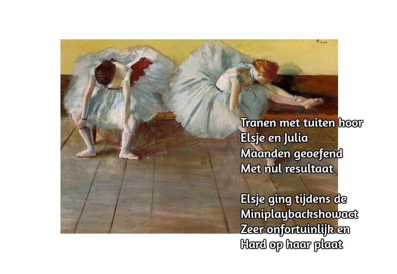 Twee ballerina's ~ Edgar Degas