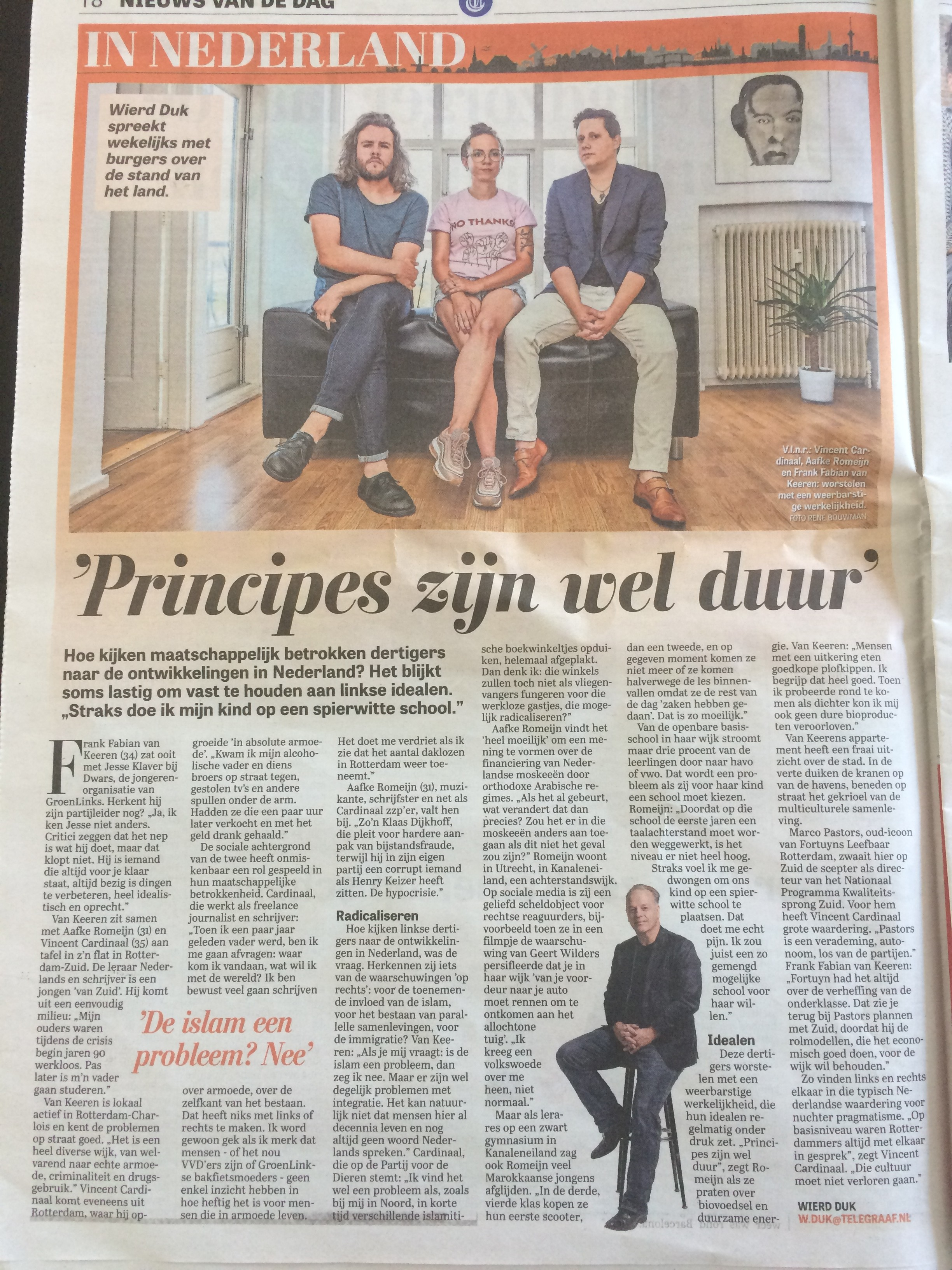 Interview Telegraaf