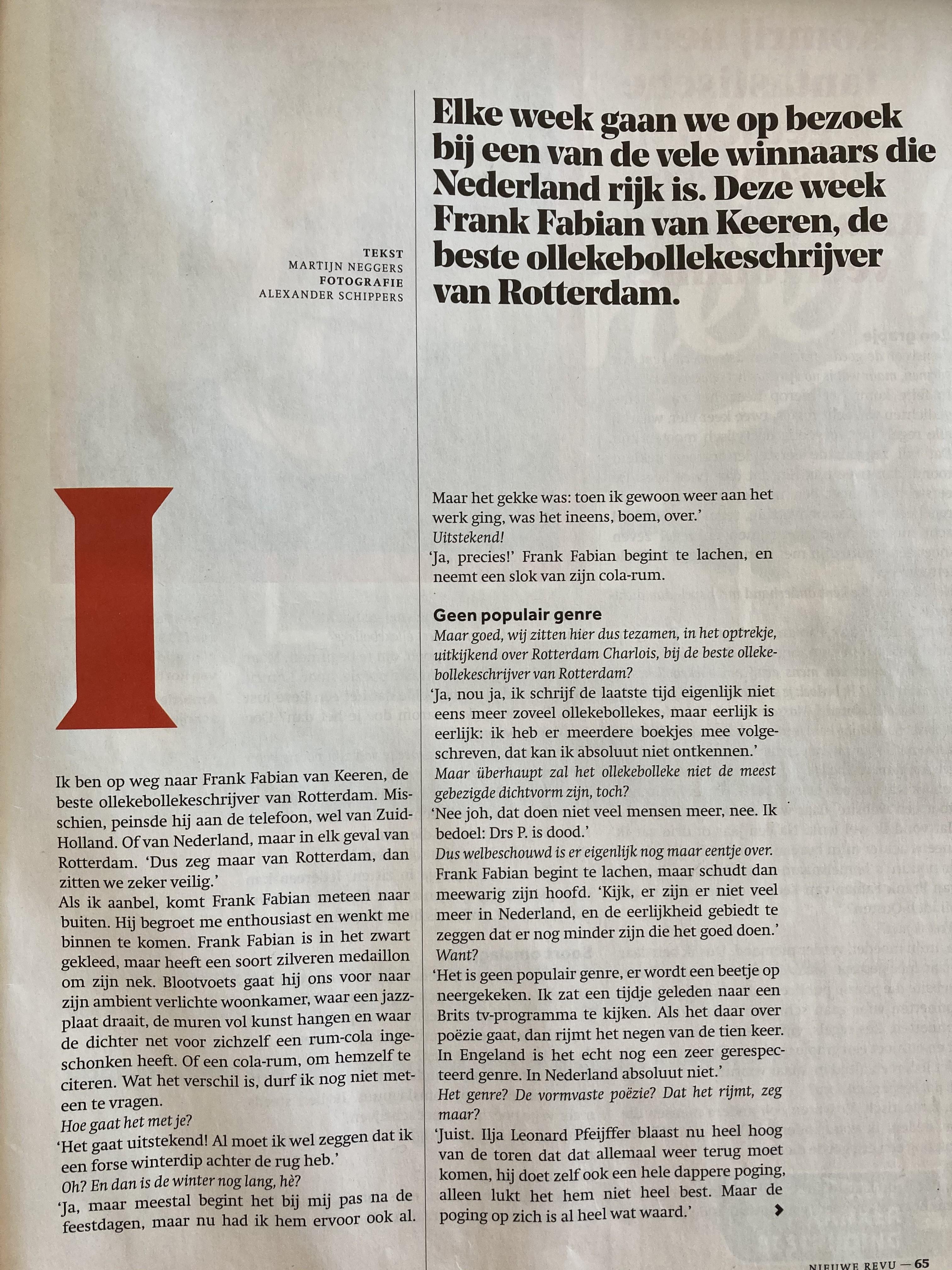Interview Nieuwe Revu
